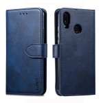 For Huawei P20 Lite GUSSIM Business Style Horizontal Flip Leather Case with Holder & Card Slots & Wallet(Blue)