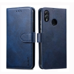 For Huawei P30 Lite GUSSIM Business Style Horizontal Flip Leather Case with Holder & Card Slots & Wallet(Blue)