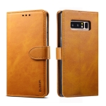 For Galaxy Note 8 GUSSIM Business Style Horizontal Flip Leather Case with Holder & Card Slots & Wallet(Khaki)