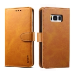 For Galaxy S8+ GUSSIM Business Style Horizontal Flip Leather Case with Holder & Card Slots & Wallet(Khaki)