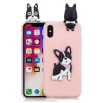 For iPhone XS Max 3D Cartoon Pattern Shockproof TPU Protective Case(Cute Dog)