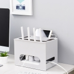 Drawer Type Shelf Free Punching TV Top Box Rack WIFI Router Storage Box(Grey)