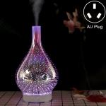 Mini 100ml Household Humidifier Ultrasonic Creative Purification 3D Glass Aromatherapy Machine, AU Plug