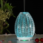 100ml Creative Vase Shape Aromatherapy Machine 3D Glass Humidifier with Colorful LED Lamp