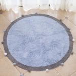 Round Ball Cotton Carpet Household Children Mat Doormat, Diameter: 1.2m(Blue)