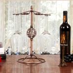 Iron Hanging Wine Glass Shelf Drain Rack Hydrangea Cup Holder