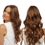 Centre-parted Hairstyle Long Curls Wig for Women (Light Brown)