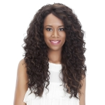 Corn Blanching Long Curly Hair Wig Headgear for Women(Black)
