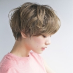 Temperament Chemical Fiber Short Hair Bob Haircut Wig Headgear for Women (Light Brown)