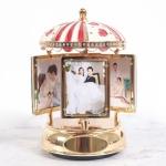 Rotating Photo Frame Music Box Creative DIY Valentines Day Gift