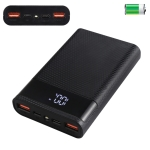 HAWEEL DIY 4x 18650 Battery (Not Included) 15000mAh QC Charger Power Bank Shell Box with 2x USB Output & Display,  Support QC 2.0 / QC 3.0 / FCP / SFCP /  AFC / MTK / BC 1.2(Black)