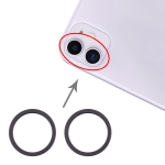 2 PCS Rear Camera Glass Lens Metal Protector Hoop Ring for iPhone 11 (Black)