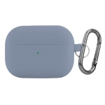 For AirPods Pro Litchi Texture Silicone Wireless Earphone Protective Case (Blue)