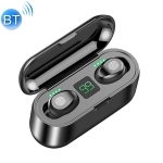 F9 TWS V5.0 Touch Control Binaural Wireless Bluetooth Headset with Charging Case and Digital Display