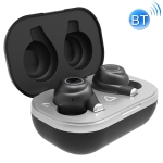 S6 Stereo IPX7 Hall Switch Binaural Bluetooth 5.0 Earphone with Charging Box (Black)