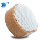 A60 Portable Wood Grain Wireless Bluetooth Speaker Mini Subwoofer Voice Box (White)