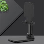 Universal Portable Foldable Mobile Phone Tablet Desktop Holder Bracket (Black)