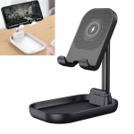 WS2 Portable Foldable Mobile Phone Tablet Wireless Charging Desktop Holder Bracket(Black)