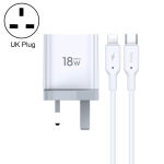 TOTUDESIGN CACQ-05 Minimal Series PD 18W Travel Charger Kit, UK Plug
