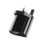 KUULAA KL-CD12 36W Type-C / USB-C + USB QC3.0 Portable Quick Charging Travel Charger Power Adapter, UK Plug (Black)
