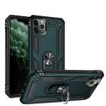 Armor Shockproof TPU + PC Protective Case for iPhone 11 Pro, with 360 Degree Rotation Holder(Green)