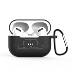 For AirPods Pro Solid Color Silicone Earphone Protective Case With The Buckle ( Tian An Men )