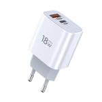 TOTUDESIGN Minimal Series CACQ-06 18W PD USB-C / Type-C + QC3.0 USB Ports Travel Charger, EU Plug
