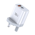 TOTUDESIGN Minimal Series CACQ-06 18W PD USB-C / Type-C + QC3.0 USB Ports Travel Charger, UK Plug