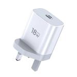 TOTUDESIGN Minimal Series CACQ-05 PD 18W Single USB-C / Type-C Port Travel Charger, UK Plug