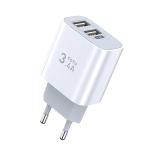 TOTUDESIGN Minimal Series CACA-021 PD 3.4A Dual USB Ports Travel Charger, EU Plug