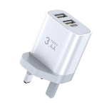 TOTUDESIGN Minimal Series CACA-021 PD 3.4A Dual USB Ports Travel Charger, UK Plug