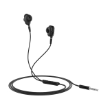 hoco M62 1.2m Dazzling Dual Moving Coil Wired Earphones with mic (Black)