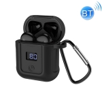 hoco S11 Melody Wireless Bluetooth V5.0 Headset with Charging Case(Black)