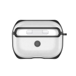 APC001 For AirPods Pro PC + TPU Transparent Earphone Protective Case with Hook (Black)