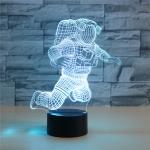 Astronaut Shape 3D Colorful LED Vision Light Table Lamp, 16 Colors Remote Control Version