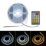 12V SMD 2835 120 LEDs Warm Light + White Ligtht LED Strip with Remote Control
