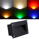 3W Red Light LED Embedded Buried Lamp IP65 Waterproof Rectangular Landscape Platform Stair Step Lamp