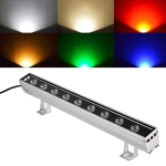 9W LED Embedded Buried Lamp IP65 Waterproof Rectangular Landscape Platform Stair Step Lamp (Green Light)