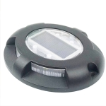 LED Solar Powered Embedded Ground Lamp IP68 Waterproof Outdoor Garden Lawn Lamp(Black)