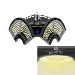 120W 3000K Warm White Light Waterproof Deformable Folding Garage Light LED UFO Mining Lamp, Wide Pressure Version