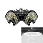 80W 6000K White Light Waterproof Deformable Folding Garage Light LED UFO Mining Lamp, Light Perception Version