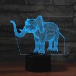 Elephant Shape 3D Colorful LED Vision Light Table Lamp, 16 Colors Remote Control Version