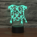 Dog Black Base Creative 3D LED Decorative Night Light, Rechargeable with Touch Button