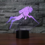 Diving Black Base Creative 3D LED Decorative Night Light, Powered by USB and Battery