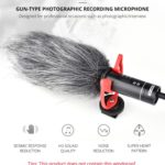 YELANGU YLG9930B MIC05 Professional Interview Condenser Video Shotgun Microphone with 3.5mm Audio Cable for DSLR & DV Camcorder(Black)