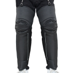 CS-865A1 Motorcycle Cold Protection Velvet Warm Lengthen Knee Pads Protector Cover (Black)