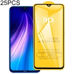 25 PCS For Xiaomi Redmi Note 8T 9D Full Glue Full Screen Tempered Glass Film