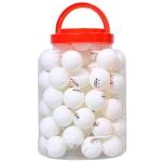 REGAIL 60 PCS Barrel Celluloid Table Tennis Training Ball (White)