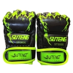 SUTENG Half Fingers Training Boxing Gloves for Adults(Green)