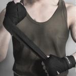 BONSEM Training Boxing Bandage for Adults, Size: 2.5m (Black)